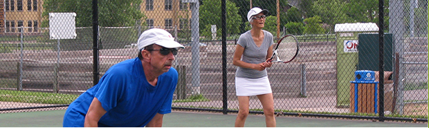 Group play with the Senior Tennis Players Club