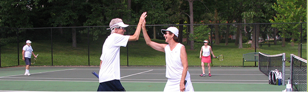 Parties and social events at the Senior Tennis Players Club